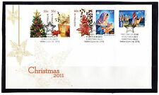 2011 Australia Christmas Issue 2011 Set Of 5 First Day Cover, Mint Condition