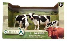 Figuras de plástico animales de granja en caja de presentación-conjunto de vaca Freesian de plástico