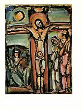 """1977 Vintage ROUAULT """"CRUCIFIXION"""" JESUS CHRIST COLOR offset Lithograph"""