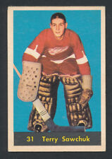 TERRY SAWCHUK HOCKEY CARD 1960 #31 PARKHURST NHL GRADE-WORTHY UN-CREASED EXAMPLE