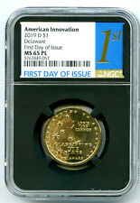 2019 D $1 DELAWARE NGC MS65 PL FDI PROOF LIKE INNOVATION DOLLAR FIRST DAY ISSUE