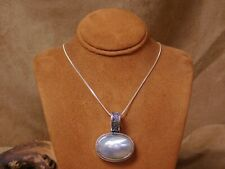 Sterling Silver Mabe Pearl Necklace