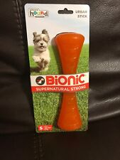 Outward Hound Bionic Urban Stick Durable Fetch and Chew Toy for Dogs S Orange