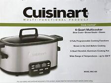 Cuisinart MSC-600 Cook Central 6 Quart Multi-Cooker Slow Cook * Saute * Steam