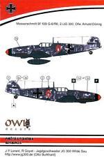 Owl Decals 1/72 MESSERSCHMITT Bf-109G-6 2./JG 300 Ofw. Arnold Doring