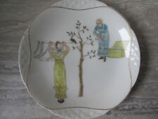 Antique Haviland Limoges Kate Greenaway Nursery Rhyme Plate Maid & Blackbird