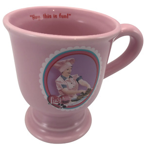 I Love Lucy Collectible Coffee Mug 14oz Lucy's Chocolate Factory Pedestal Pink