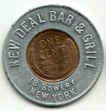 New York Ny encased 1932 cent - New Deal Bar & Grill - Fdr program reference?