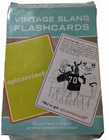 Vintage Slang Flashcards Lingo Lulus 1900-1965 Hotsy Totsy Cards Knock Knock