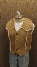 Vtg NOS Genuine Sheepskin Shearling Western Style Vest By Wooltique sz 38 Med
