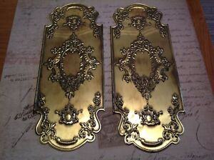 Reclaimed Solid Brass Door Finger Plates Antique finish Churb Design