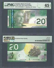 CANADA 20 Dollars (2004) 2011, BC-64c Macklem Carney, Tough Date, PMG 65 EPQ UNC