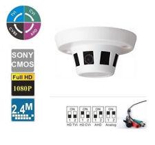 Smoke Detector Hidden Security CCTV Camera HD-TVI Analog HD 2.4 MP 1080p