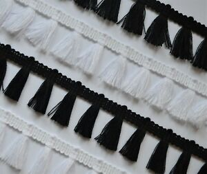 **NEW** Fine cotton tassel braid 35 mm perfect for cushions, blankets, clothing