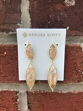 💖🌟NWT Kendra Scott Maisey in Crackle Brown MOP/Gold HARD TO FIND!🌟💖