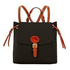 Dooney & Bourke Black Nylon Flap Backpack Sold Out NWOT