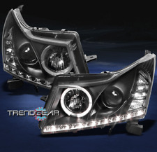 2011-2014 CHEVY CRUZE HALO DRL LED BLACK PROJECTOR HEADLIGHTS SIGNAL LEFT+RIGHT