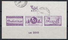 ROMANIA :1944 Postal Employees Relief Fund Min Sheet SGMS1630 fine used