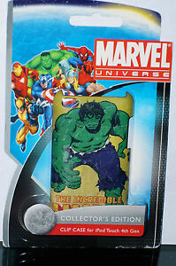 MARVEL UNIVERSE Collector's Edition Hulk Clip Case for iPod Touch 4th Gen NIP