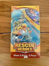 Rescue Heroes When It Rains, It Pours VHS 1999 Fisher Price Sealed Rare