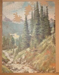 Antique or Vintage Wooden Virginia Jig Saw Puzzle LibraryFairest Retreat373