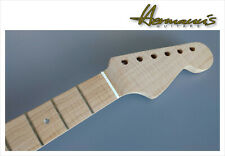 Stratocaster One Piece Roasted Flamed Maple Neck mit Abalon Dots, unfinished  UD