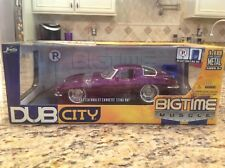 2005 Jada Dub City 1:18th 1963 Chevrolet Corvette Purple SWC Factory Sealed !