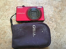 Nikon Coolpix S6000 14.2MP 7X Zoom Digital Point and Shoot Camera (red)