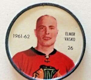 "1961-62 Shirriff Coin:#26 Elmer ""Moose"" Vasko Chicago Black Hawks"