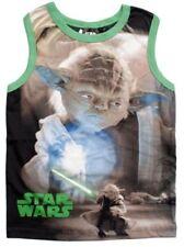 T-shirts, débardeurs et chemises verte sans manches pour garçon de 2 à 16 ans en 100% coton