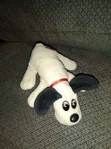"Pound Puppies Newborn Lt. Gray with Black Ears Puppy 7""L Mini Plush"