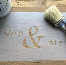 You & Me Stencil, Wedding stencil, Heart Stencil, Love Stencil, You & Me Decal