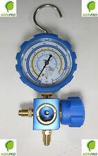 MANOMETRO SINGOLO CON RUBINETTO PER GAS REFRIGERANTE R410A R22 R134A R407C