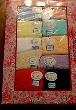 NWT Women's Briefs 12 Pairs Lot Size 7  Large Cotton Pretty Colors Underwear