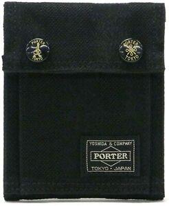 Yoshida Bag PORTER TANGO Fold in half Wallet BLACK 638-07803 from Japan New