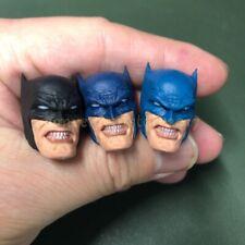 "Painted Custom 1/12 Scale Batman Head Sculpt fit 6"" Figure One:12 Black Blue"