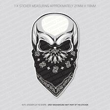 Skull With Bandana Sticker Decal - Car - Laptop - Macbook - Notebook - 5896