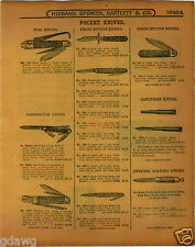 1915 PAPER AD Press Button Pocket Knife The Victor Business OVB Store Display