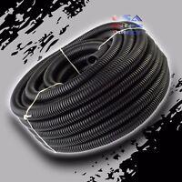 "25Ft 1/2"" Marine Grade Conduit Car Home Tubing Split Wire Loom Black Sleeve tube"