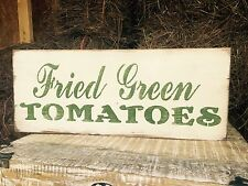 "Large Rustic Wood Sign - ""Fried Green Tomatoes"" Fixer Upper, HGTV, Primitive"