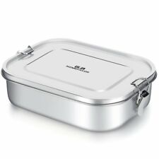 Stainless Steel Lunch Box 1400ML Food Container with Lock Clips for Kids, Office