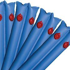 "Pool Cover Water Bags Equipment Blue 8"" Tube Winter 6 Pack 20 Gauge Vinyl Swim"