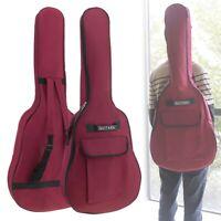 "40/41"" Acoustic Guitar Double Straps Padded Guitar Soft Case Gig Bag Backpack"