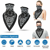 Men Women Motorcycle Tube Mask Washable Face Cover Neck Gaiter Bandana Scarf