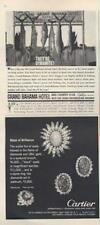 1962 The Grand Bahama Hotel Fish PRINT AD & Cartier feat: Blaze of Brilliance AD