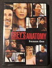 Grey's Anatomy Season 1 One Two 2 Disc DVD Set Touchtone Telivision 2006