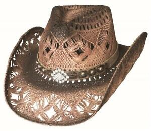 NEW - MAGNIFICENT Tan QUALITY Toyo Straw Western Cowboy Hat Bullhide MonteCarlo