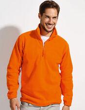 Unifarbene Herren-Kapuzenpullover & -Sweats mit Reißverschluss aus Fleece