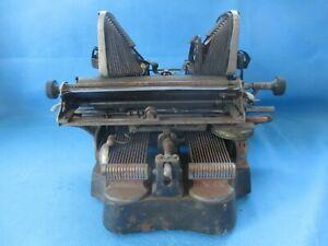 Vintage 1902 Oliver #3 Typewriter Bat Wing As Is