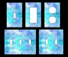 MERMAIDS SCALES PATTERN Light Switch Covers Home Decor Outlet MULTIPLE OPTIONS
